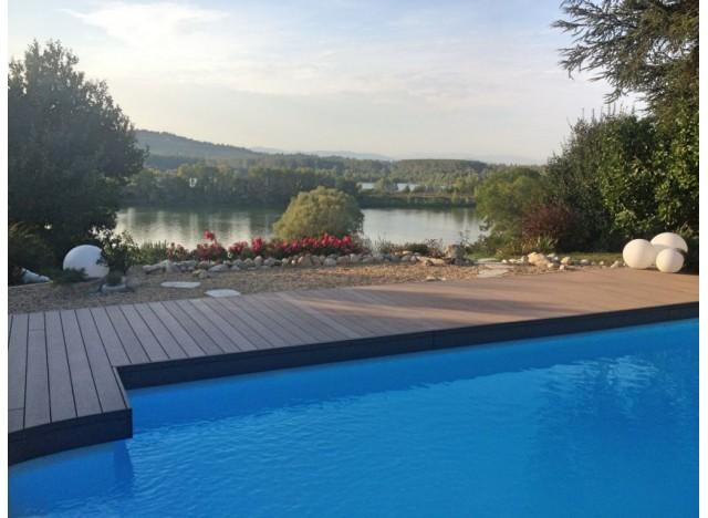 Lame de terrasse composite Lameo XTRA - Brun - 25x145mm - LG : 3.40m