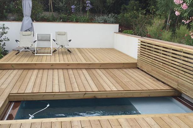 Terrasse en bois semi ouverte