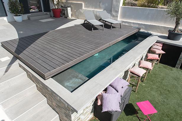 Terrasse mobile semi ouverte
